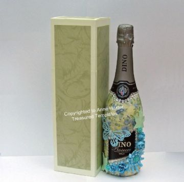 Wine/Champagne Bottle Box Template